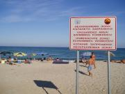 "Town Varna Sign ""Not guarded beach"" - Pasha dere"